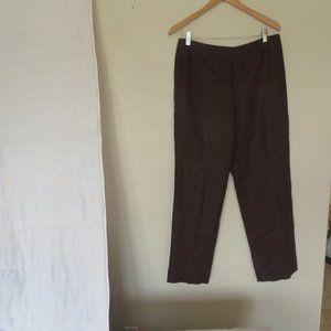 Women's Talbots Brown Dress Pants